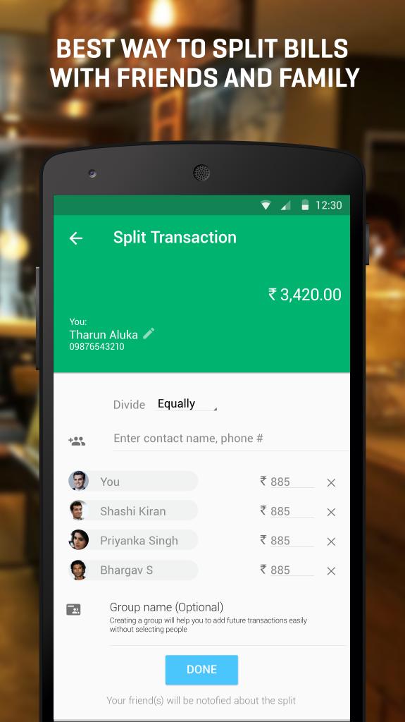 Split bills and expenses