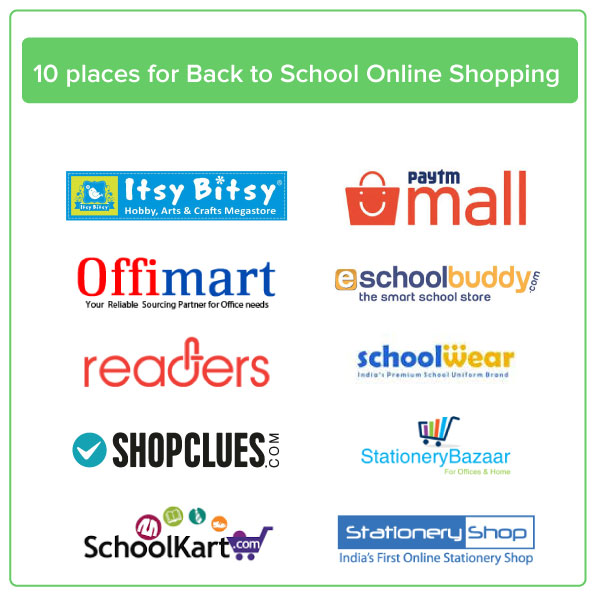 Back to School Online Shopping 2018