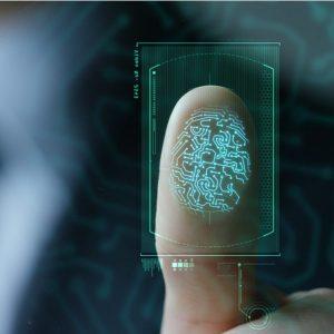 An indicative image of fingerprinting which is used in Aadhaar