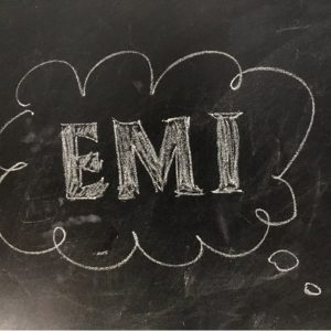 A chalk board image of EMI