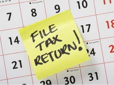 Do not miss the tax filing deadline