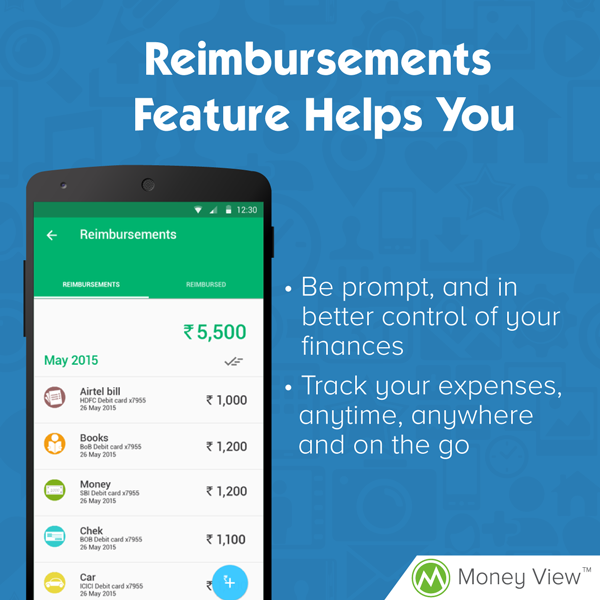 Track your Reimbursements with Money View